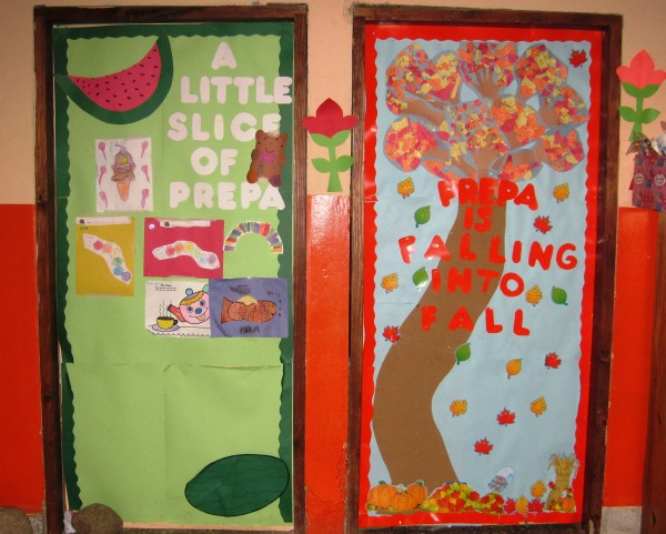 New door decorations for the upcoming second semester.