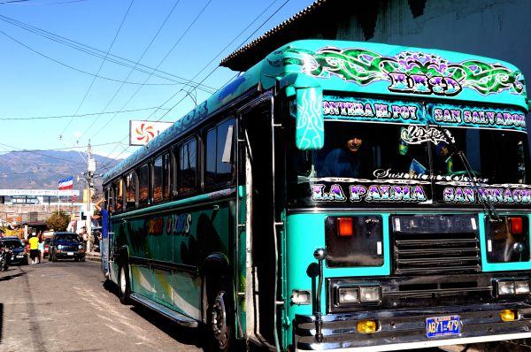 Chicken bus in El Salvador