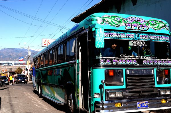 Chicken bus in El Salvador