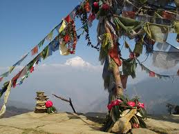 Prayer flags in Tibet.