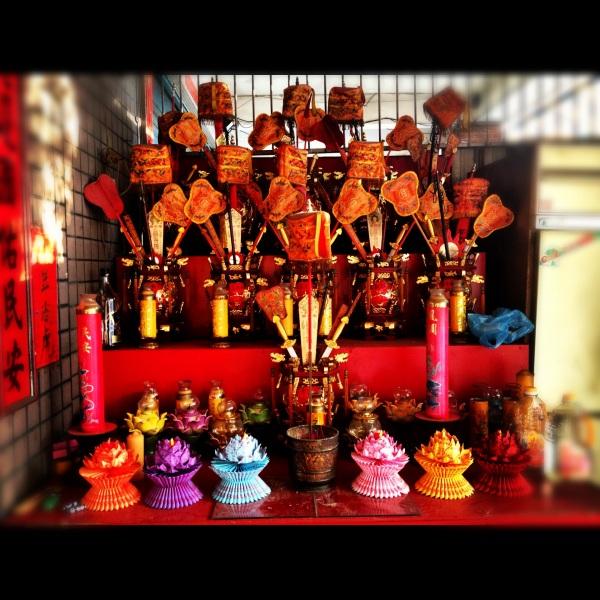 An altar in Kaohsiung, Taiwan.