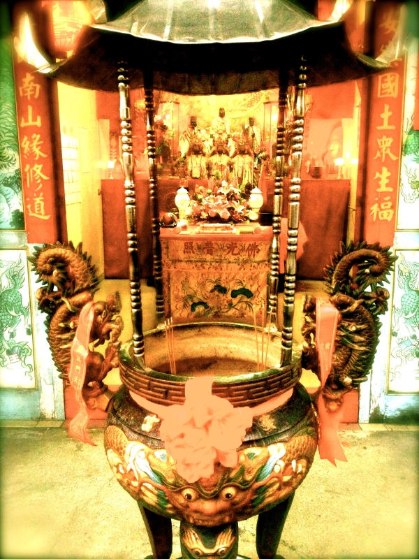 The temple I went for prayer in Kaohsiung, Taiwan.