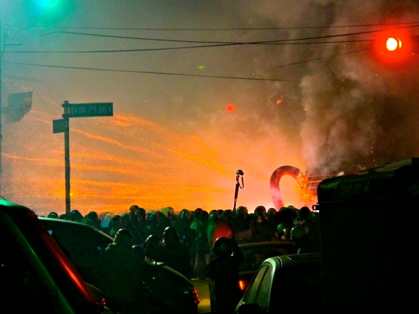 Explosions at the 2013 Yanshui Firework Festival.