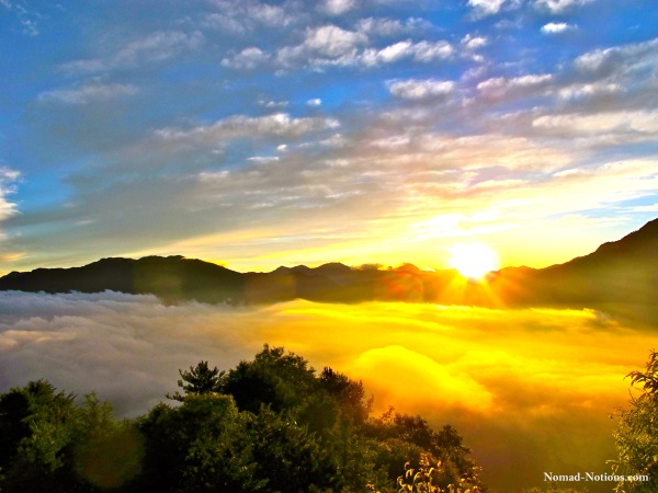 Sunrise over the Alishan Mountains